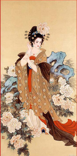 Chinese ancient beauty Yangguifei